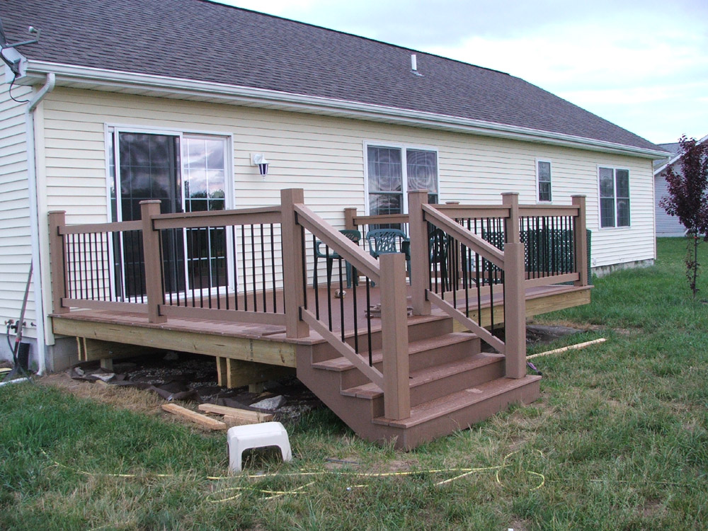 Deck stair railing for Deck stairs pictures